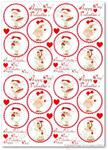 Papier ryżowy do decoupage Aquita AD0342 Happy Valentine's Day mini w sklepie internetowym Serwetnik.pl