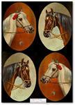 Papier ryżowy do decoupage Aquita AD0401 Konie - portrety x2 w sklepie internetowym Serwetnik.pl
