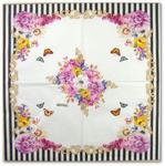 Serwetka do decoupage 3088 Kwiatowe girlandy z motylkami R2S w sklepie internetowym Serwetnik.pl