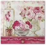 Serwetka do decoupage 3149 Różane kompozycje na kredensie postawione w sklepie internetowym Serwetnik.pl