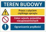 T006 Duża TABLICA BUDOWLANA łączona 100x70cm w sklepie internetowym Sklep-ppoz.pl