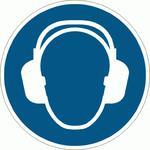M003-F Znak PODŁOGOWY Nakaz stosowania ochrony słuchu ISO7010 Ø 50cm w sklepie internetowym Sklep-ppoz.pl