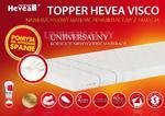 HEVEA TOPPER VISCO 200x160 + Gratis poduszka Visco!! w sklepie internetowym Kraina Materacy